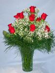 01A 12 Red Roses Arranged