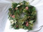 01A Silk Christmas Wreath