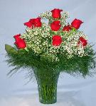 01B Anniversary 12 Red Roses Arranged