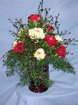 01B Silk Christmas Arrangement