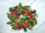 01B Silk Christmas Wreath