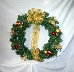 01C Silk Christmas Wreath