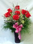 01G 12 Red Roses Arranged