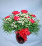 01G Anniversary 12 Red Carnations