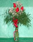 01L 3 Red Roses Arranged
