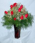 01M 12 Red Roses Arranged
