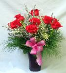 01P Anniversary 12 Red Roses Arranged