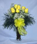 01R 6 Yellow Roses Arranged