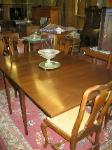 Mahogany Drop Leaf Dining Room Table